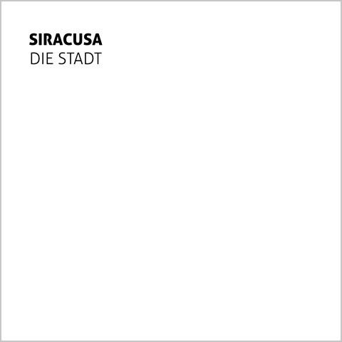 Siracusa album by Die Stadt cover artwork